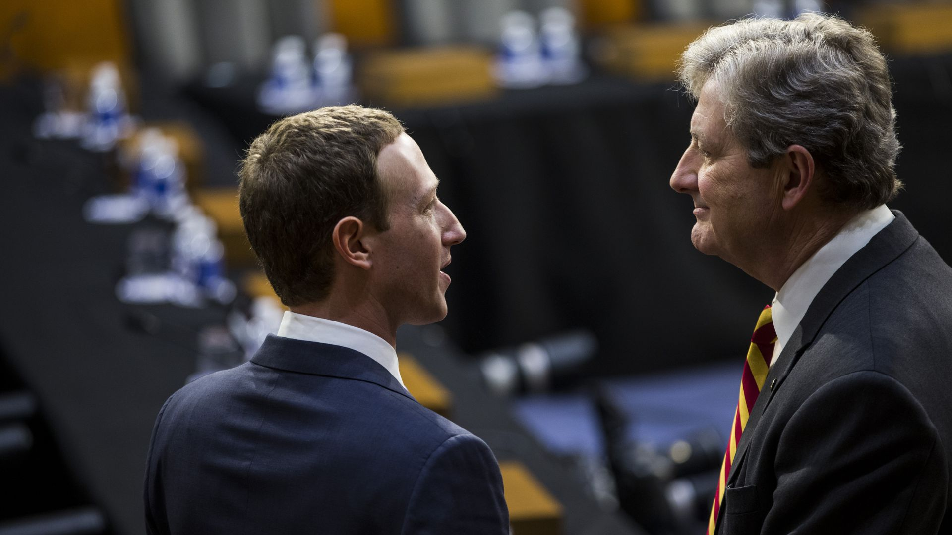 Mark Zuckerberg and Sen. John Kennedy (R-LA)