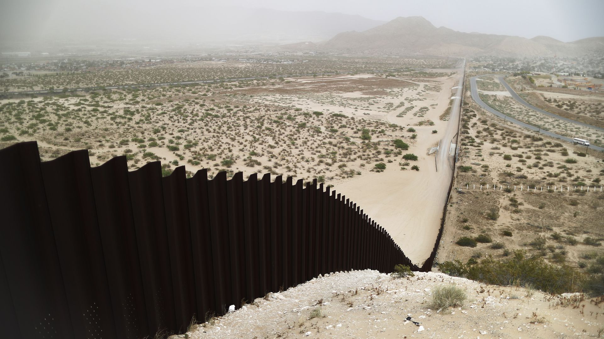 Border wall along the U.S. Mexico border