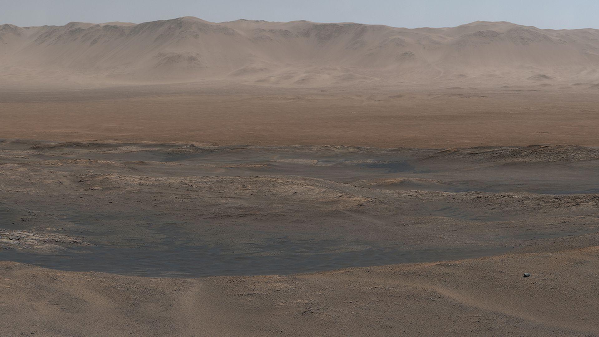 Curiosity rover captures a Martian panorama - Axios