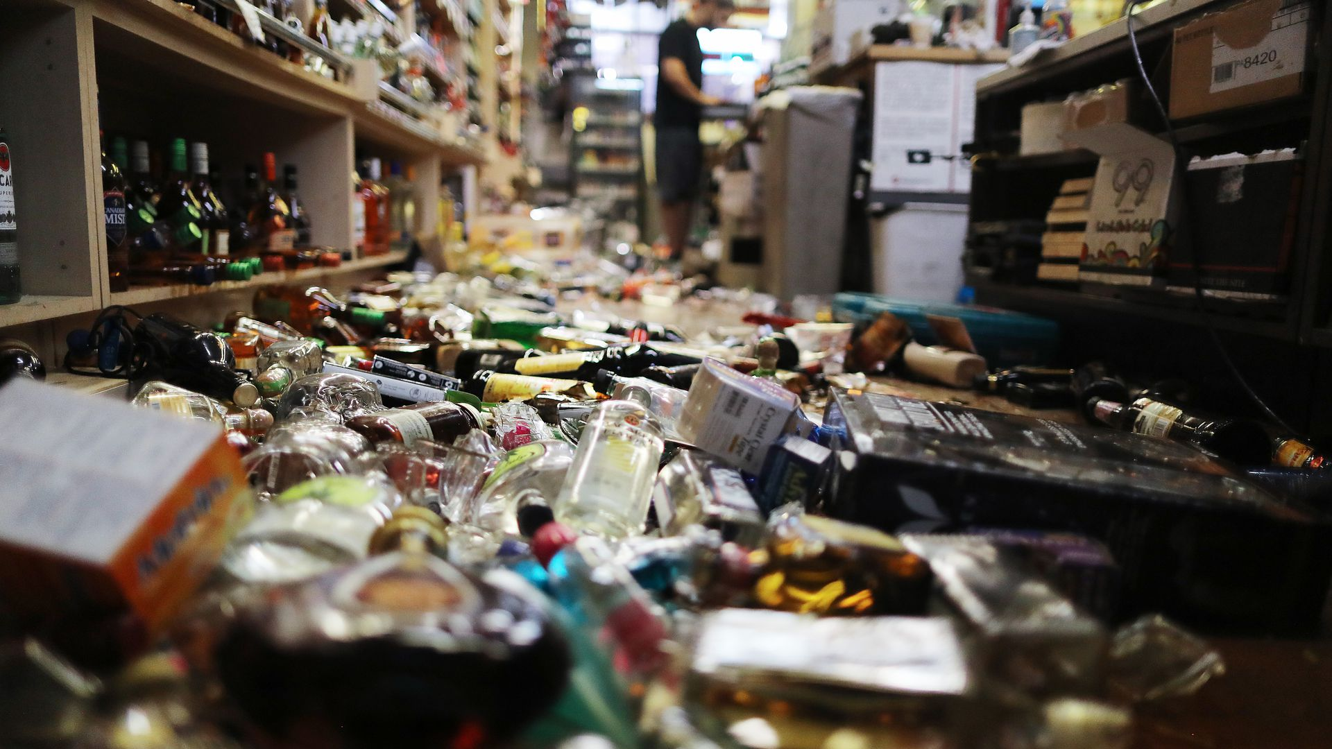 Damage at a store in Southern California following 2 major earthquakes