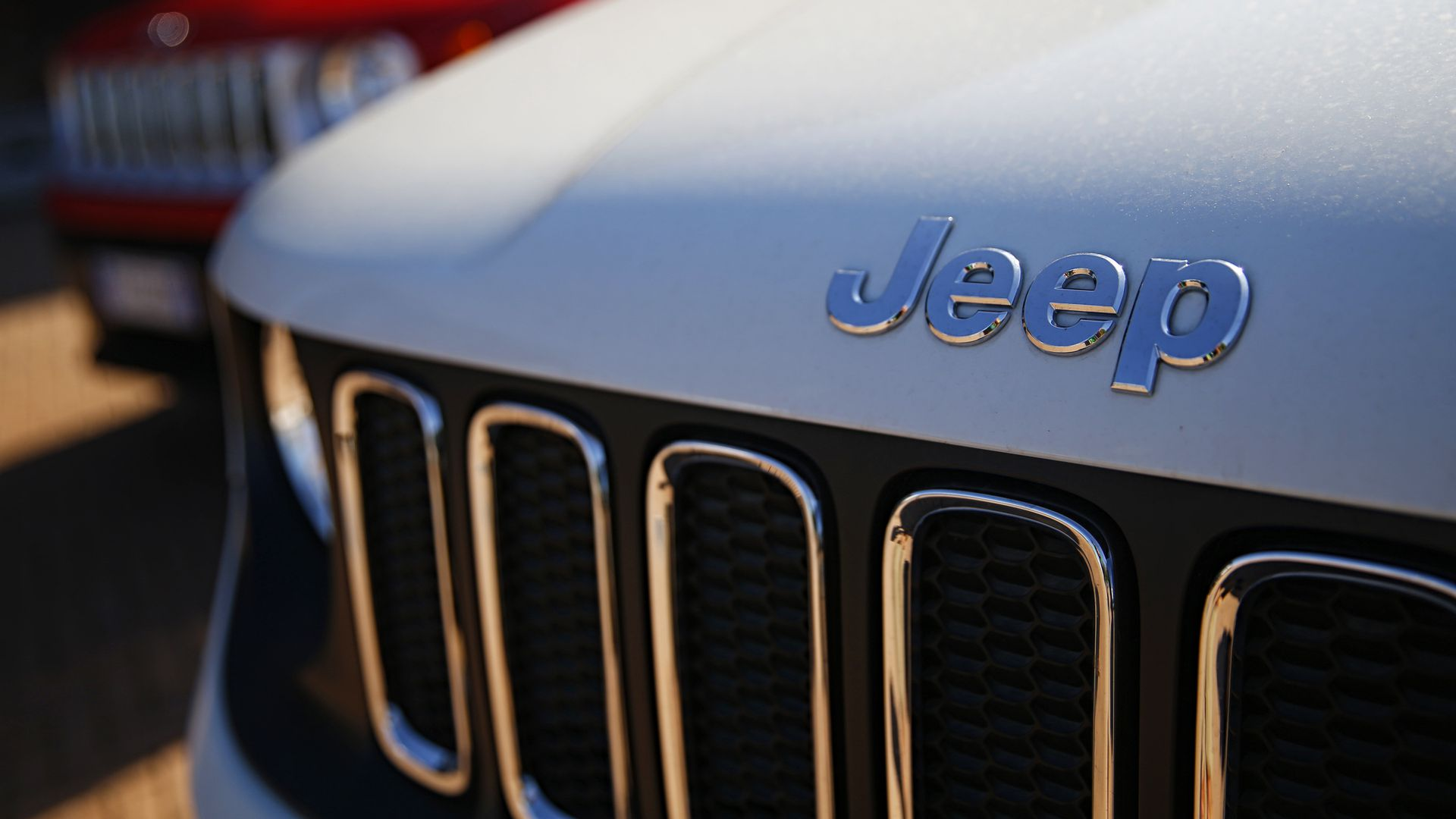 Close of a Jeep grill