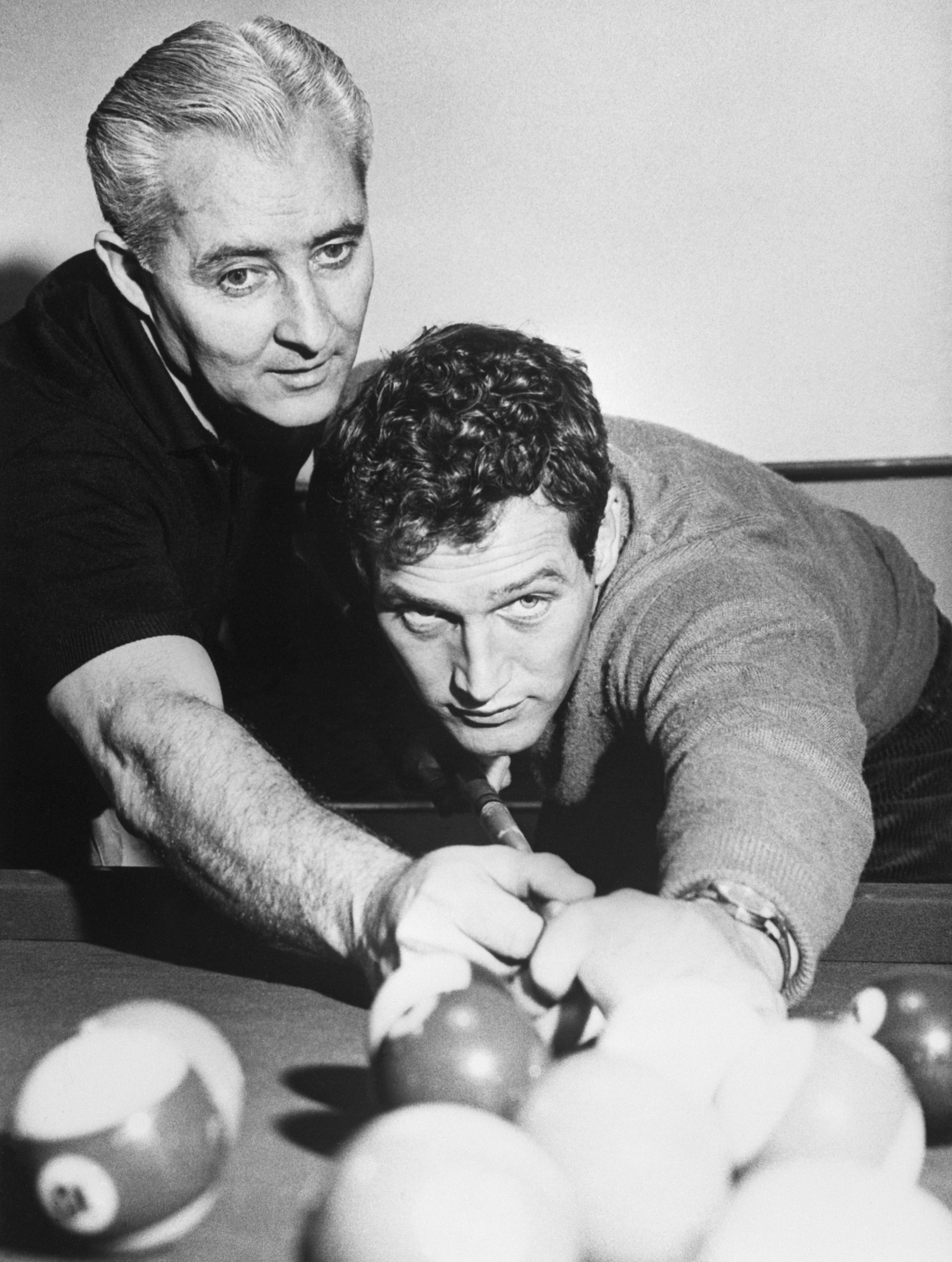 Willie Mosconi and Paul Newman