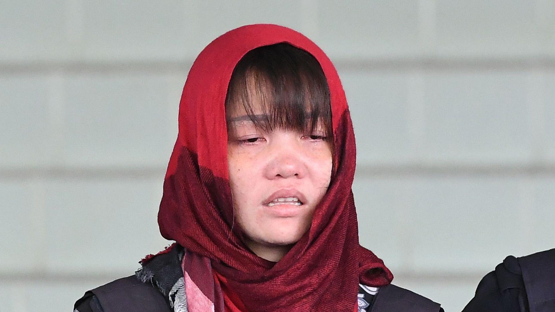 Doan Thi Huong denies murdering Kim Jong-nam.