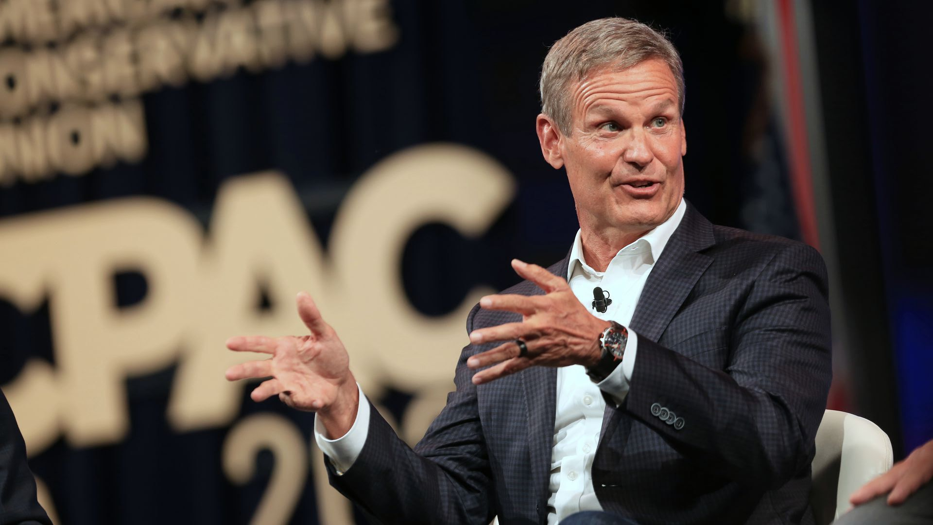 Gov. Bill Lee speaking during the 2021 Conservative Political Action Conference.