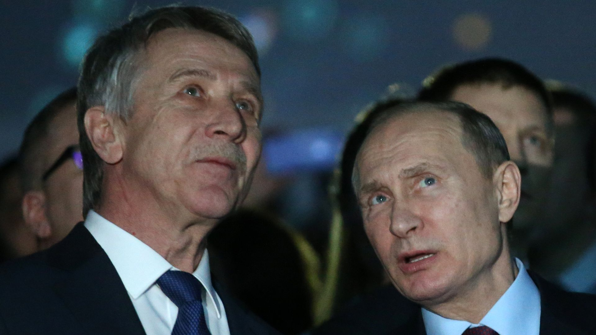 Leonid Michelson and Vladimir Putin