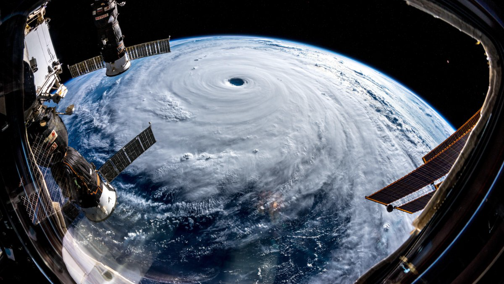 Super Typhoon Jami as seen from the International Space Station on Sept. 25, 2018.