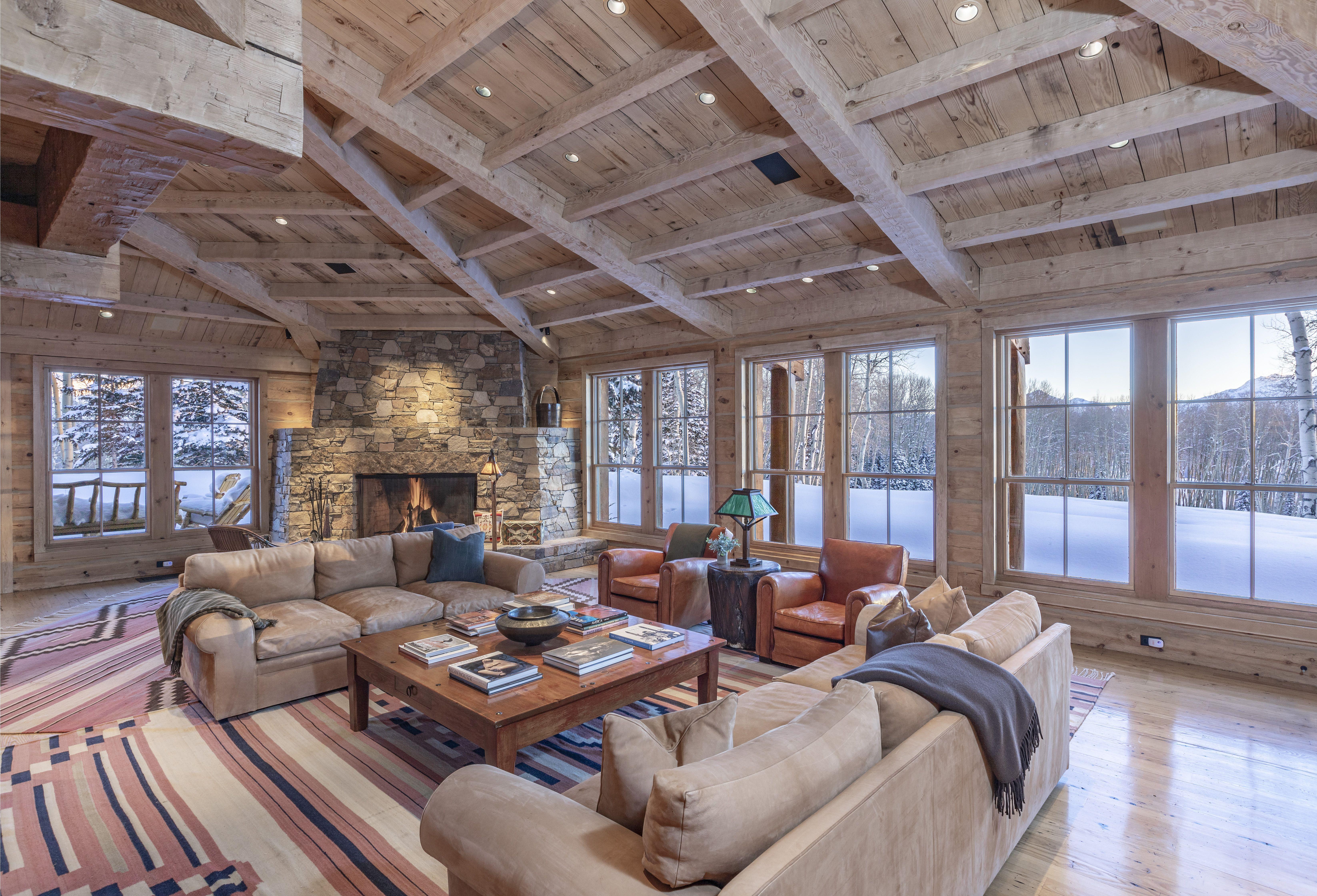 Tom Cruise's Telluride Ranch living room