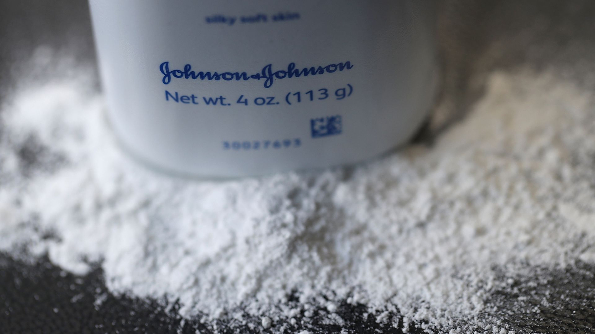 Johnson & Johnson baby powder and bottle.