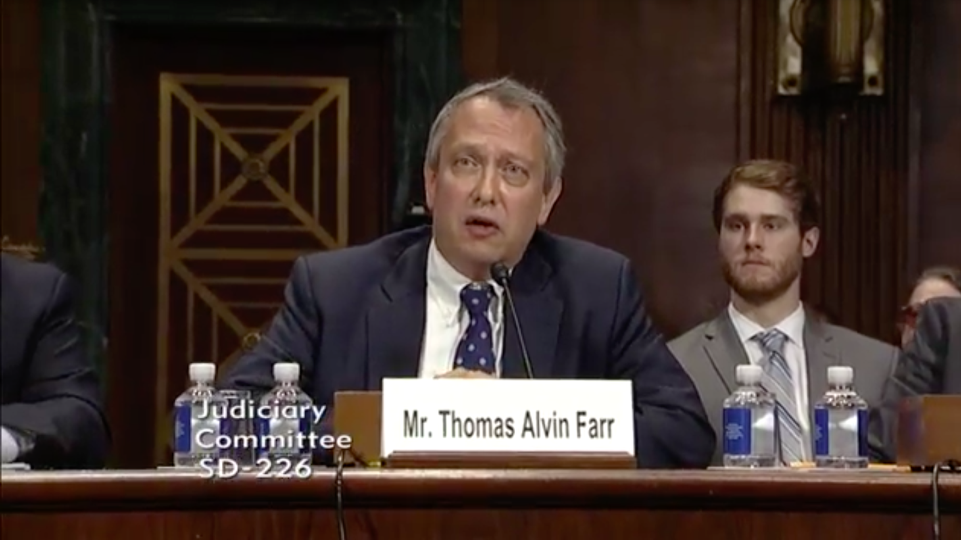Thomas Farr at a hearing last year.