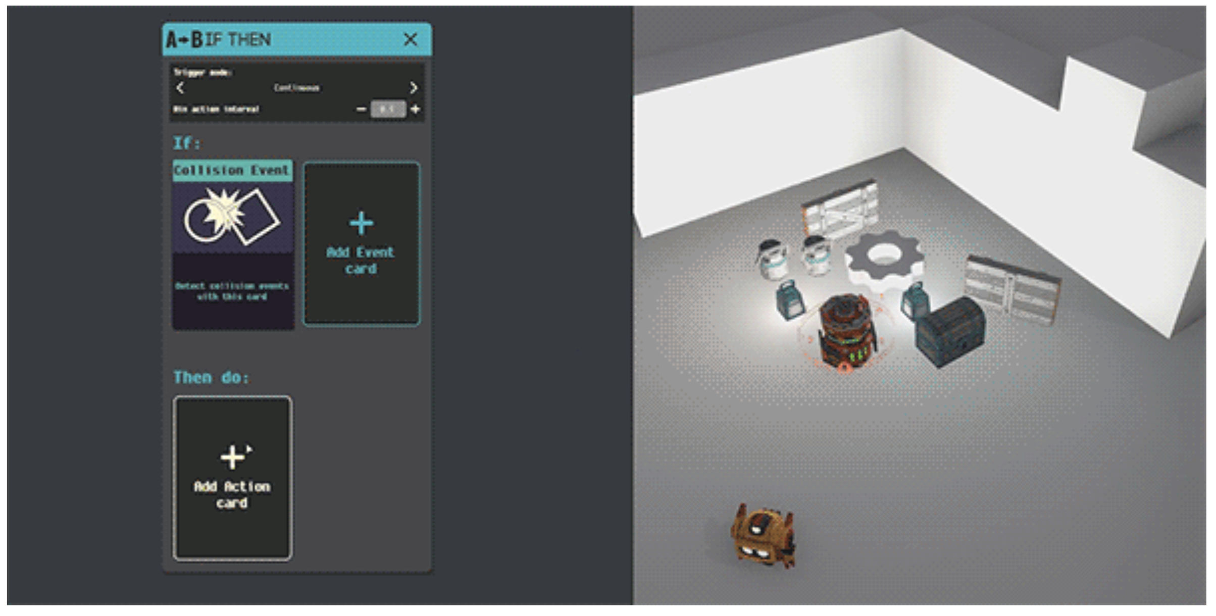 An image from Game Builder, Google's tool for building games without needing to code
