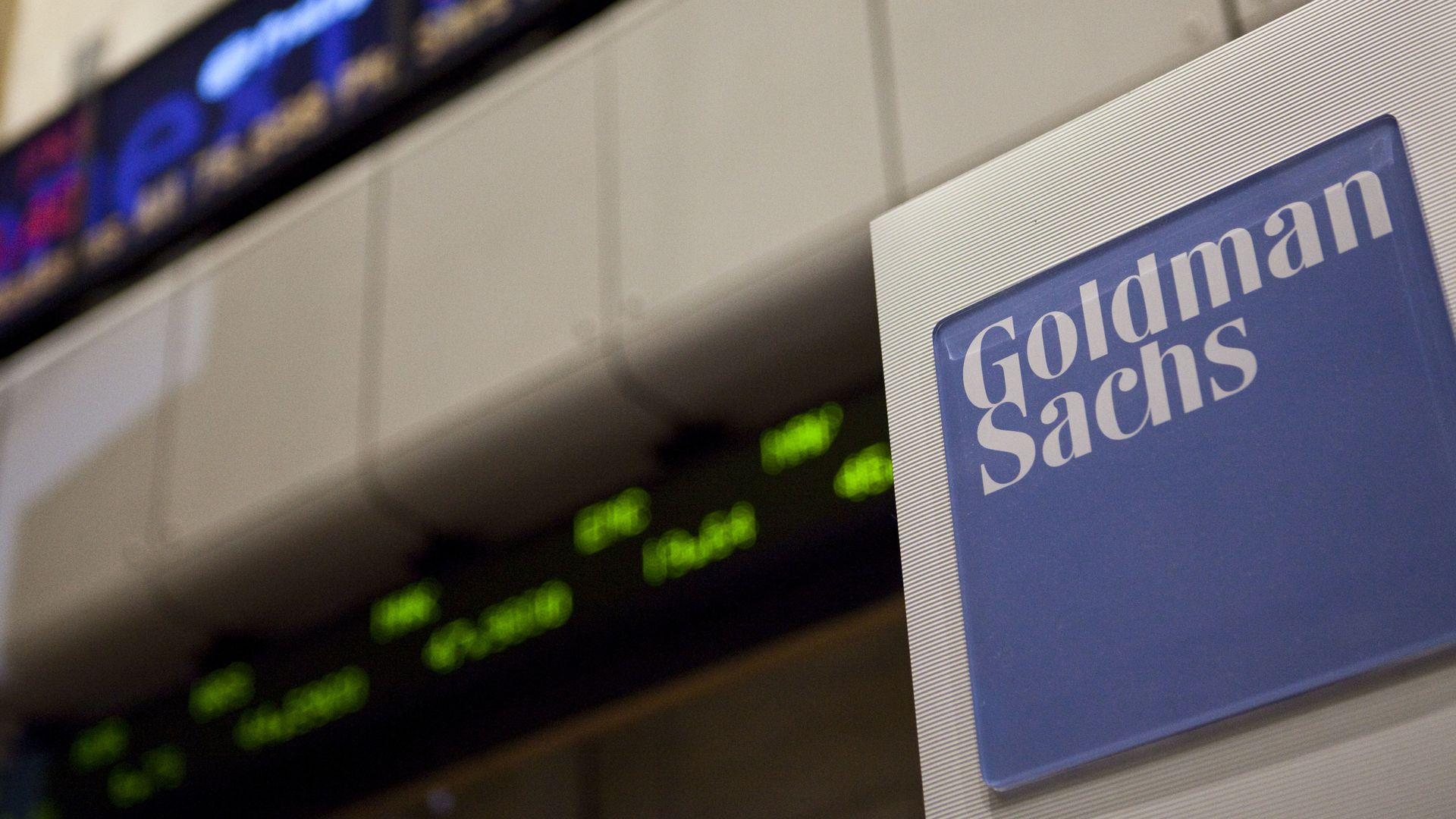 Goldman Sachs logo.
