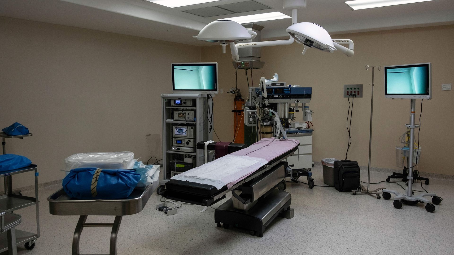 A surgery room.