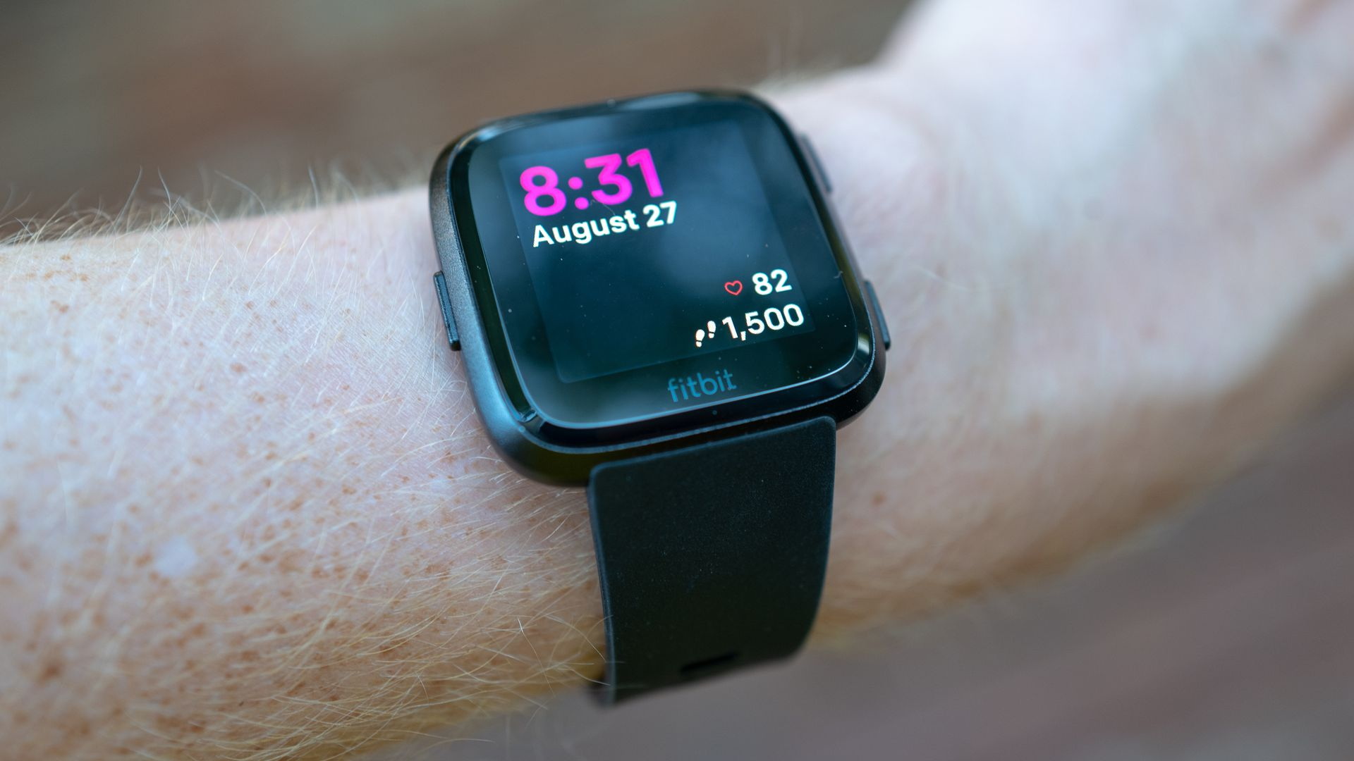 The Fitbit Versa smart watch.