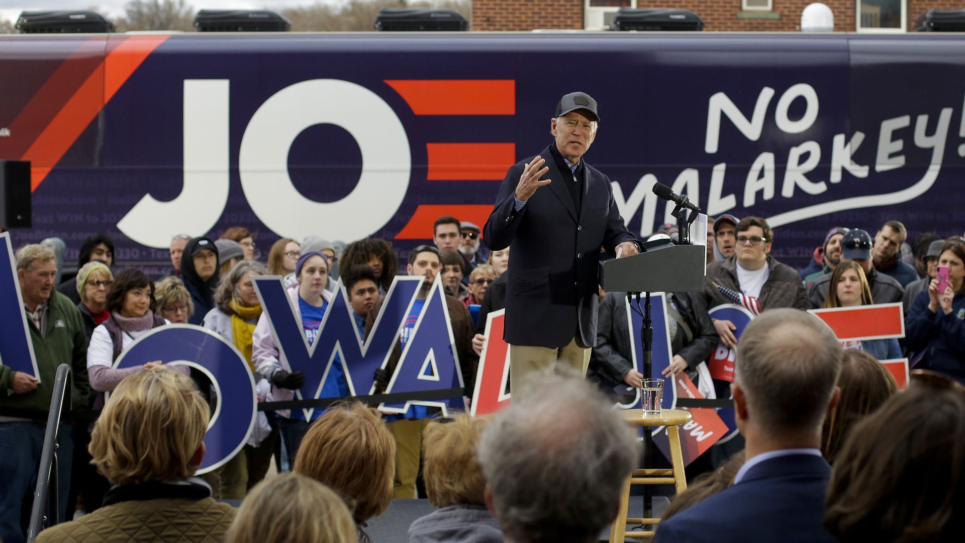 Democratic presidential candidate  Joe Biden speaks during a campaign event on November 30, 2019 in Council Bluffs, Iowa.