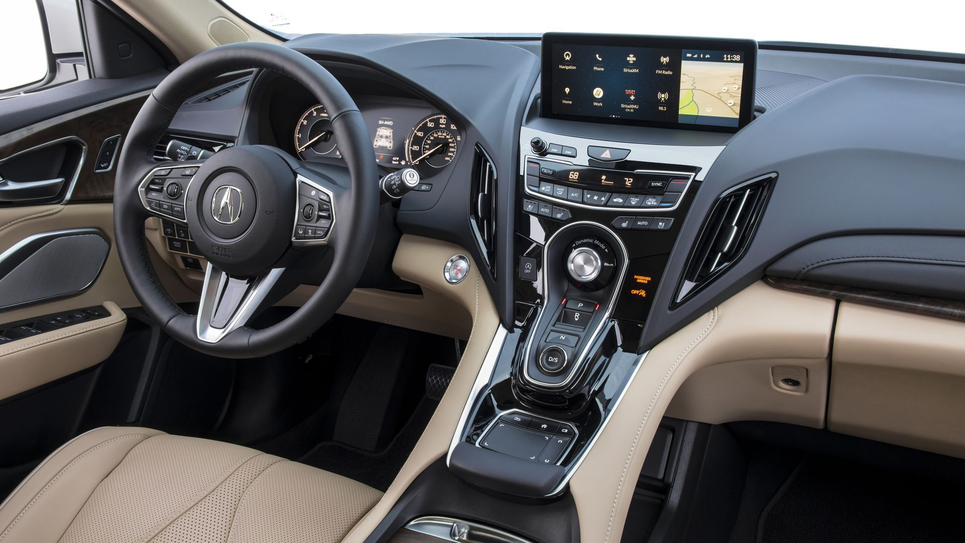 Acura RDX's True Touchpad controls the high-mounted infotainment screen.