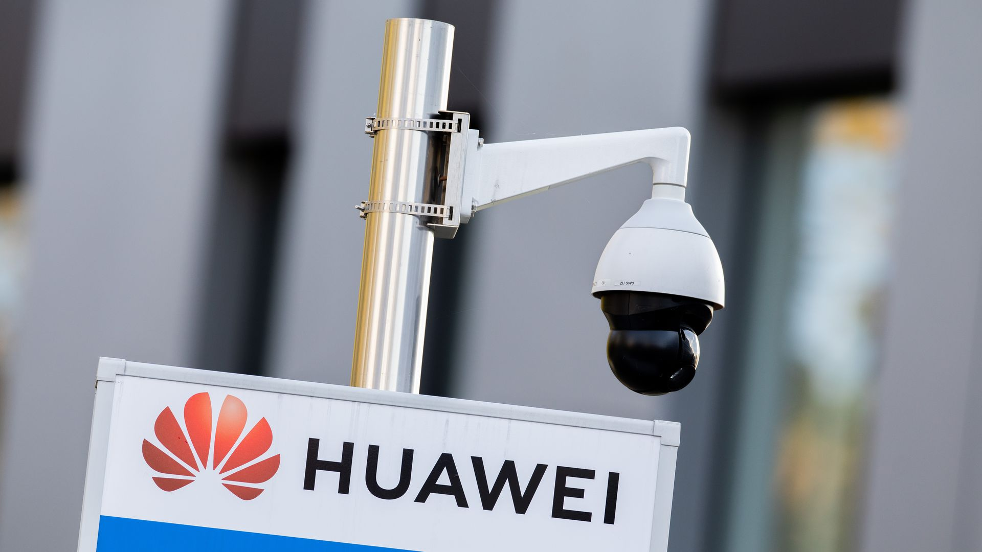 Photo of a Huawei headquarters sign