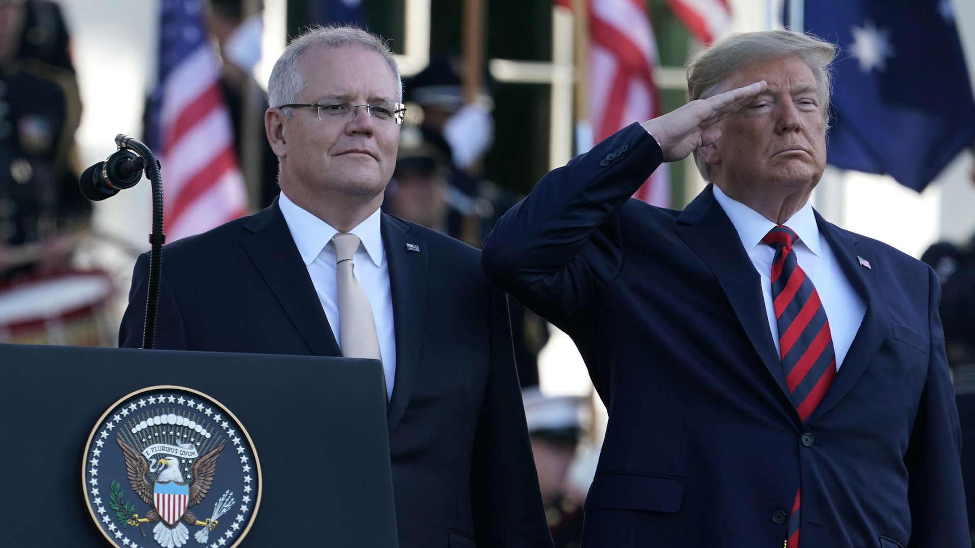 Morrison and Trump together.