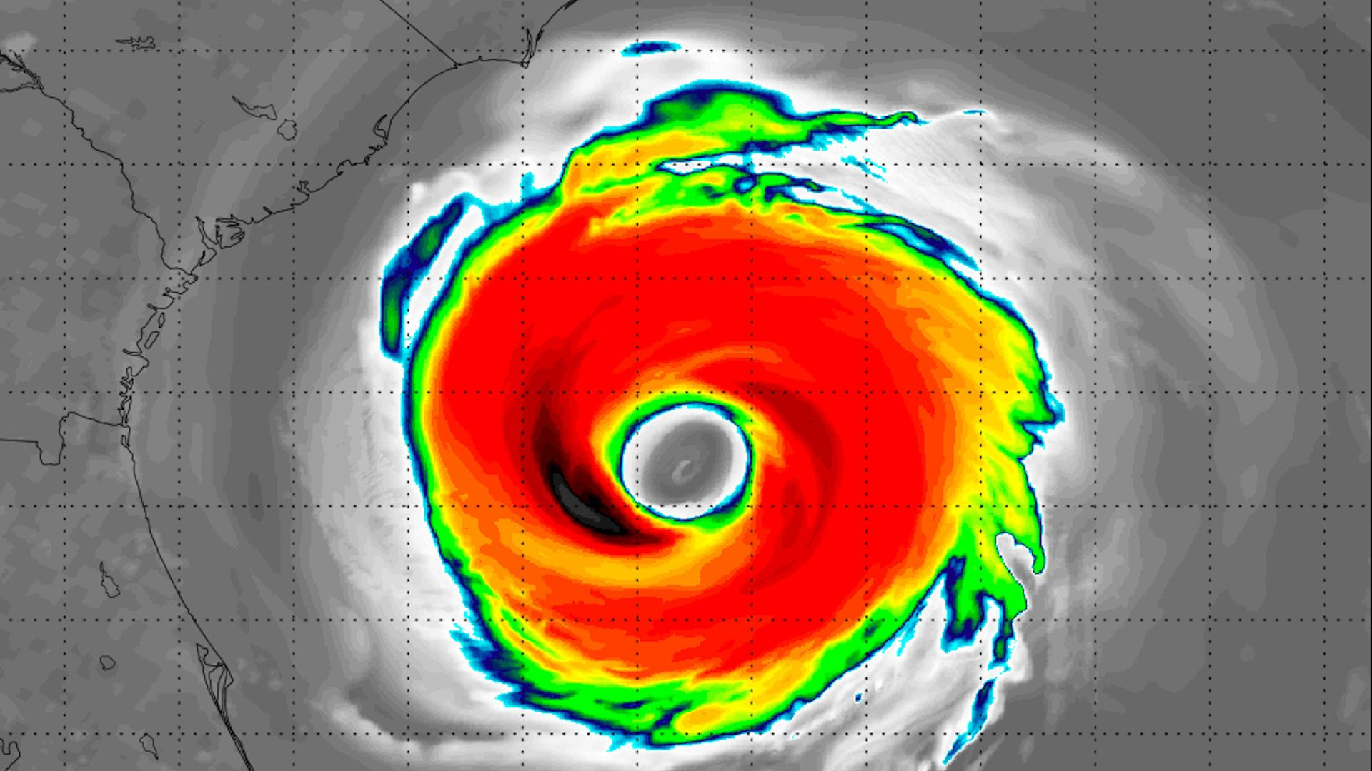 Computer Model Simulation Of Hurricane Florences Satellite Signature As It Nears