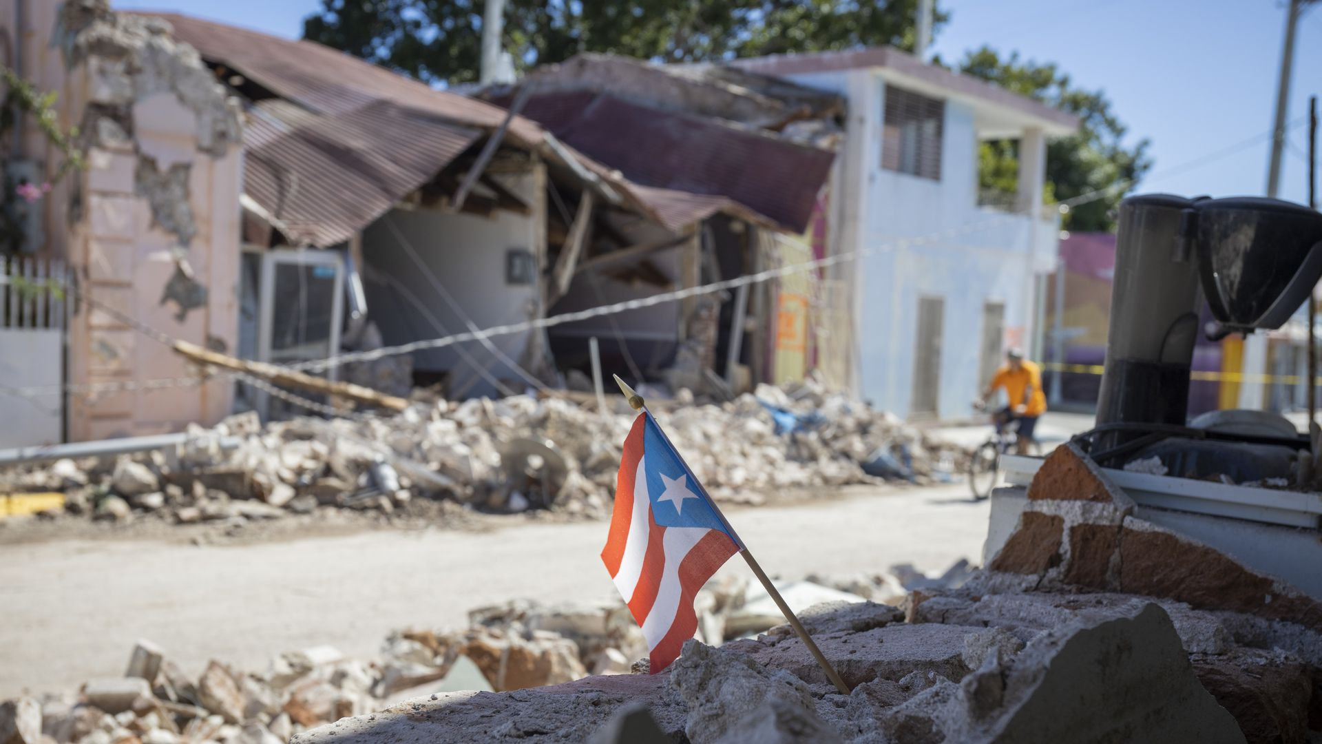 : A view of damages at Guanica town after 6.4-magnitude earthquake hit Puerto Rico on January 7