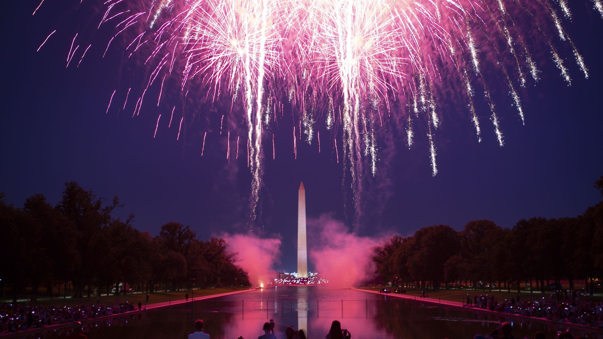 Fourth of July fireworks at the National Mall