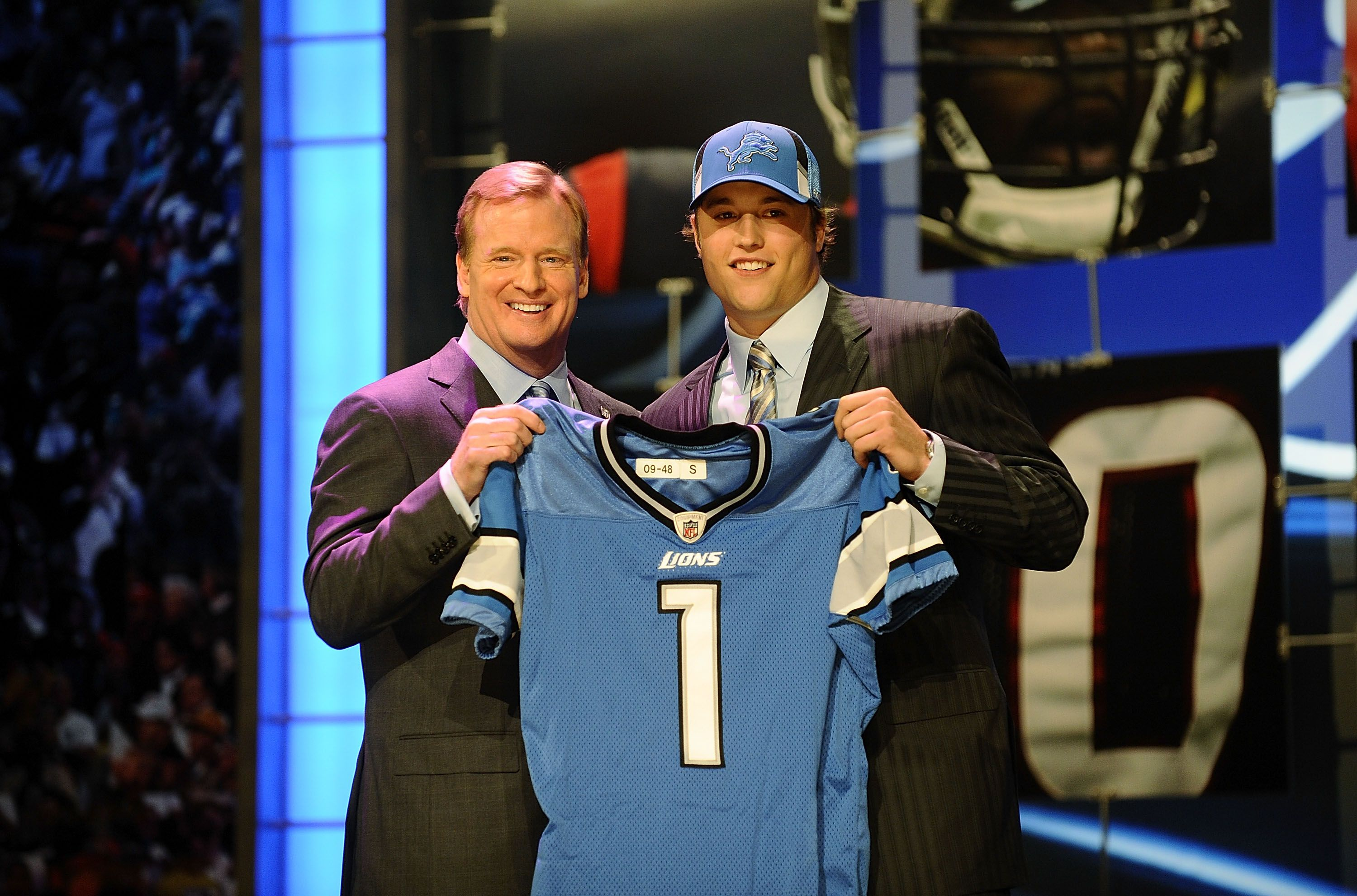 Matthew Stafford and Roger Goodell