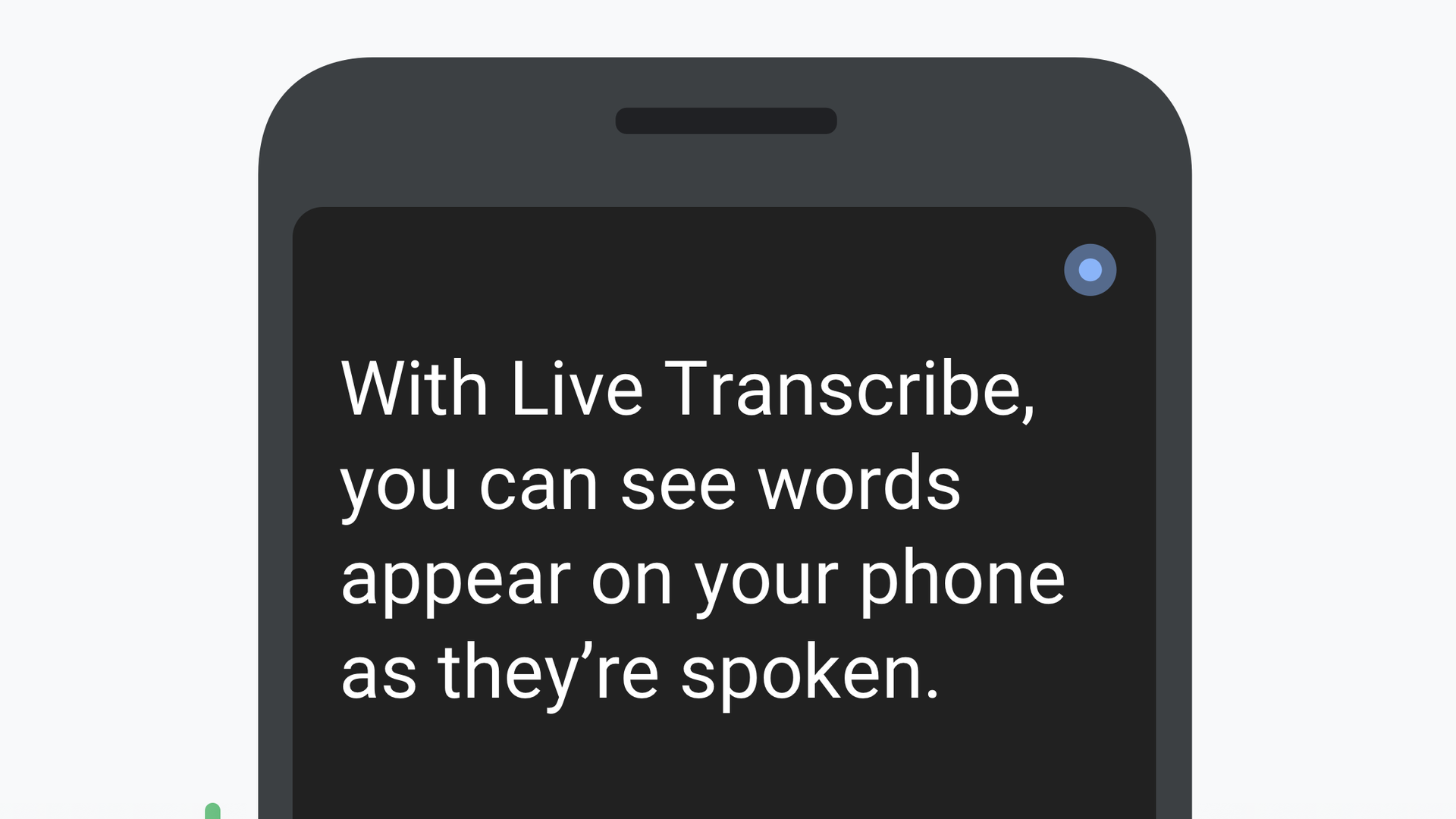Google Pixel phone showing live translation