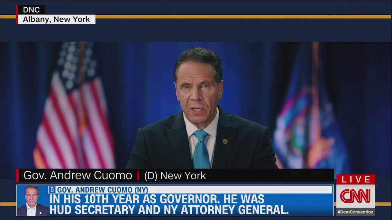 Gov Cuomo Uses Coronavirus Briefing Approach To Attack Trump In Dnc Speech Axios