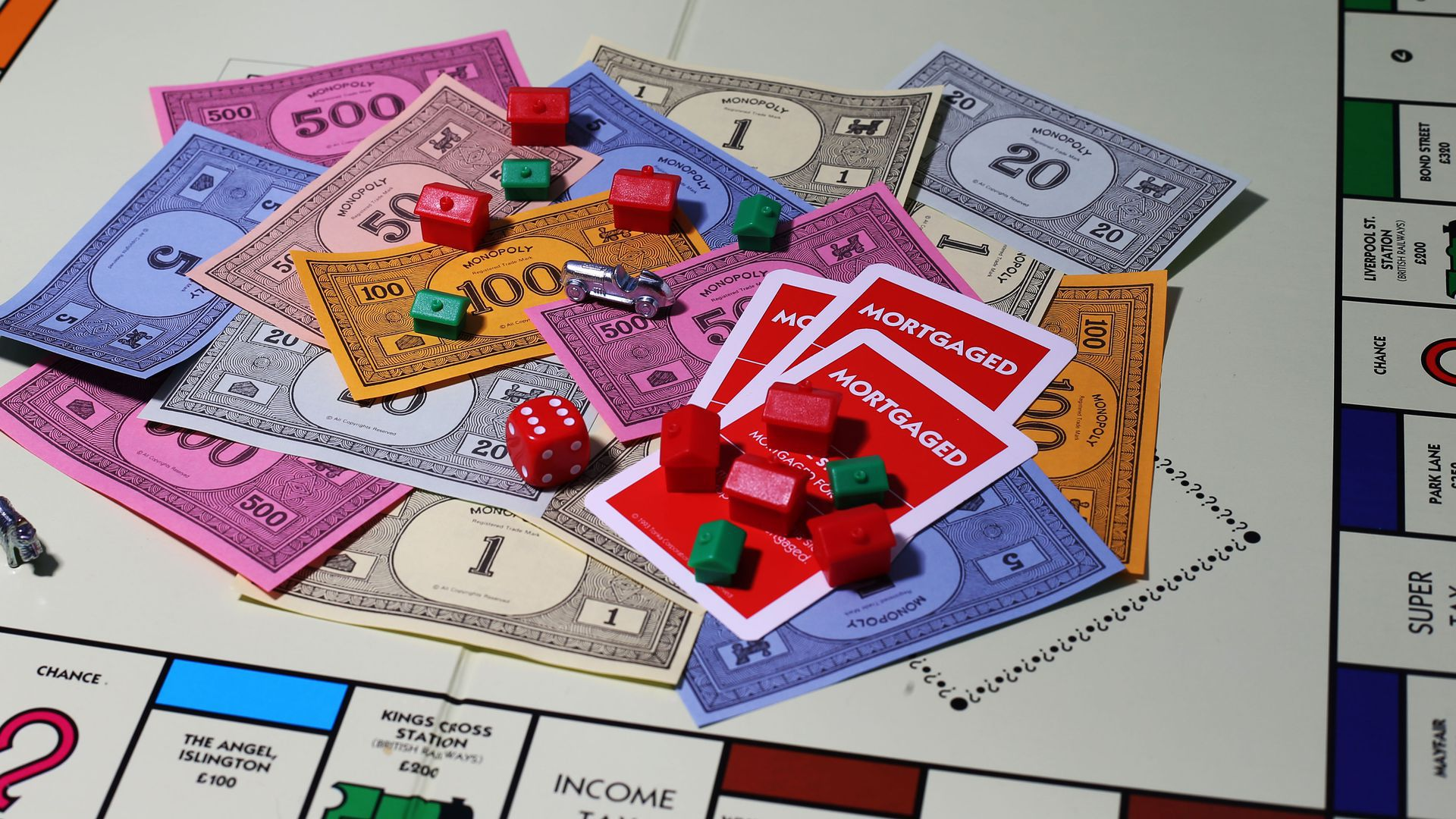 An image of a Monopoly game in progress