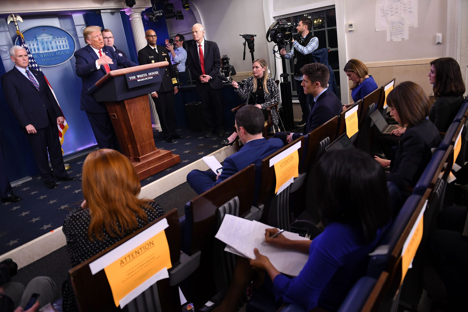 Trump signals an economic pivot on coronavirus shutdowns