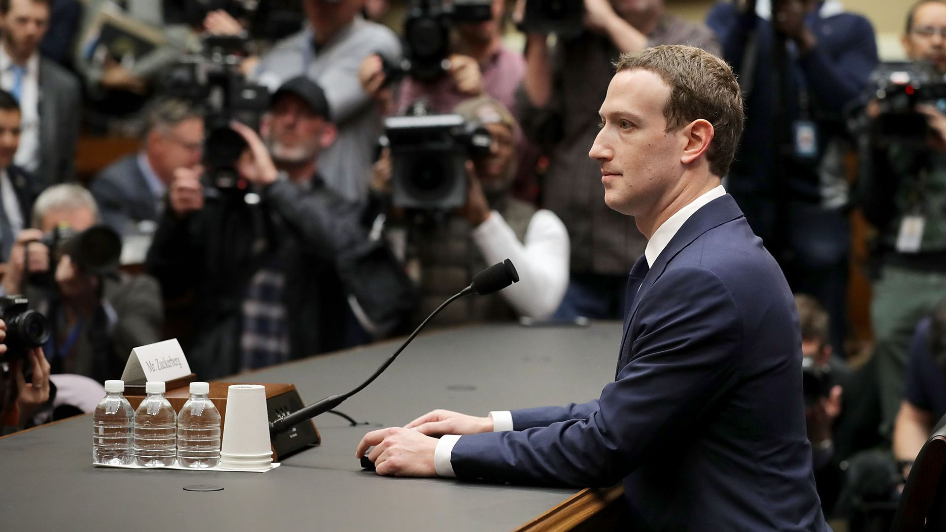 Zuckerberg testifying