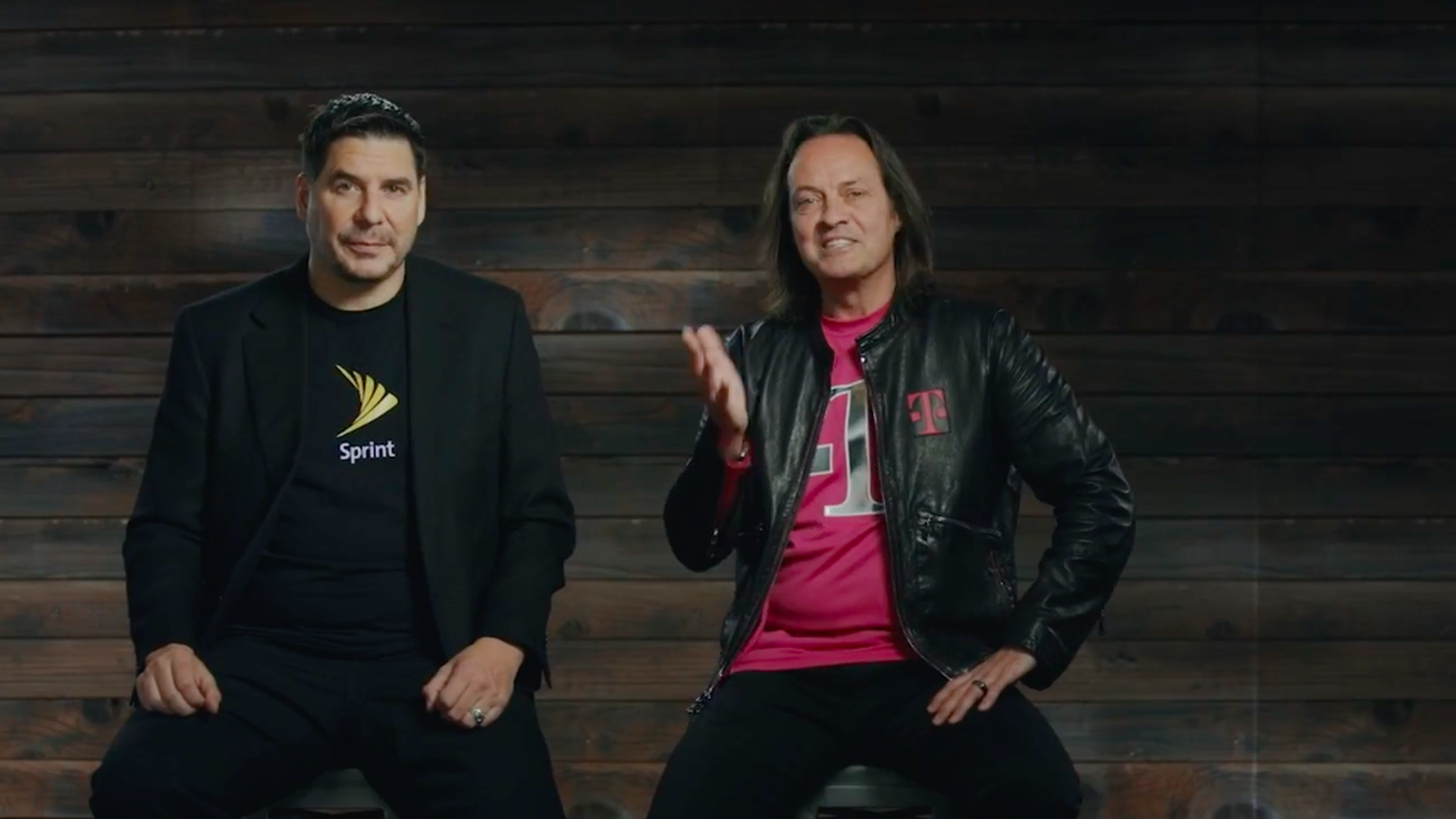 Sprint CEO Marcelo Claure and T-Mobile CEO John Legere