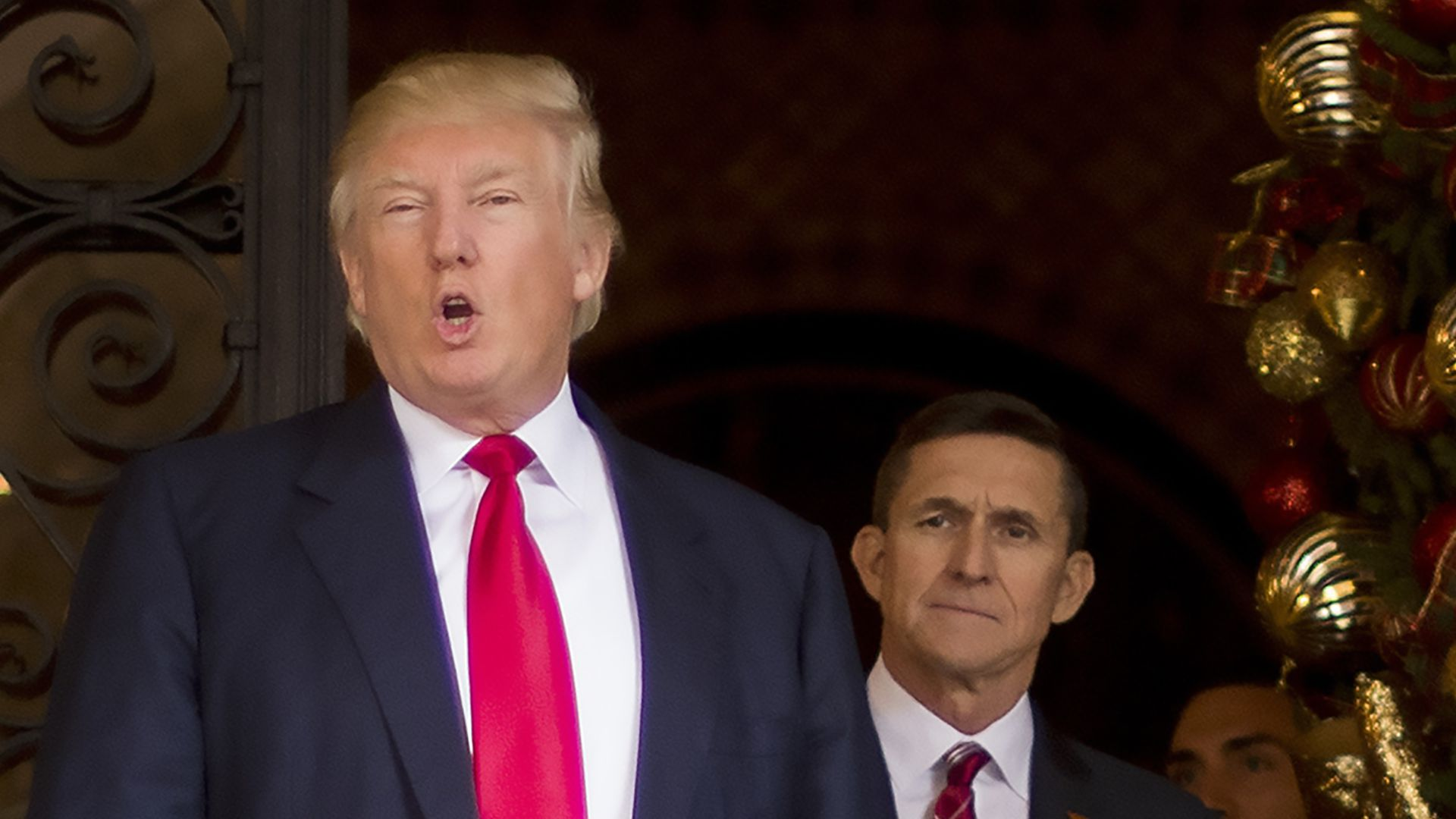 President Trump with Michael Flynn