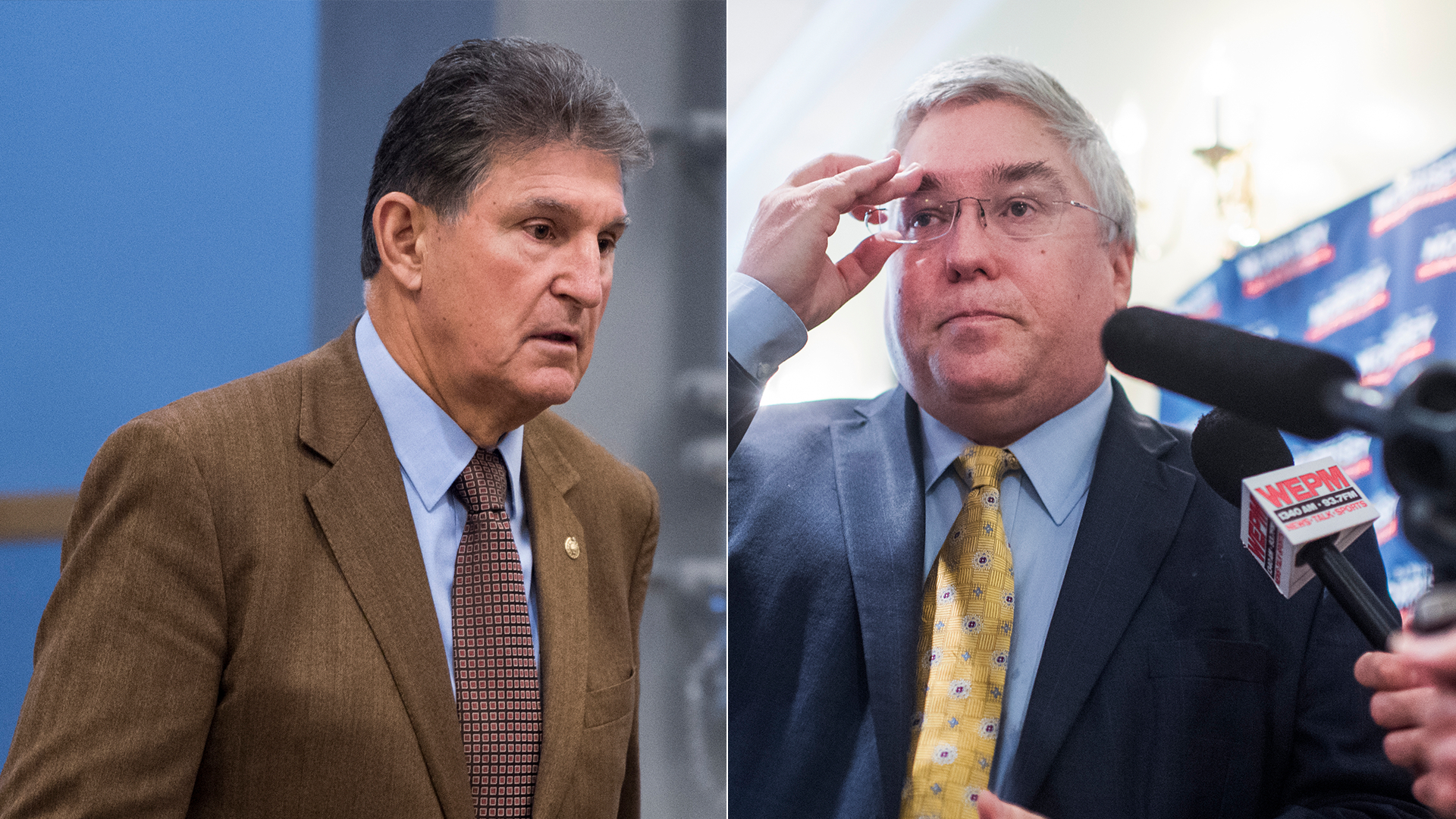 Sen. Joe Manchin and West Virginia Attorney General Patrick Morrisey