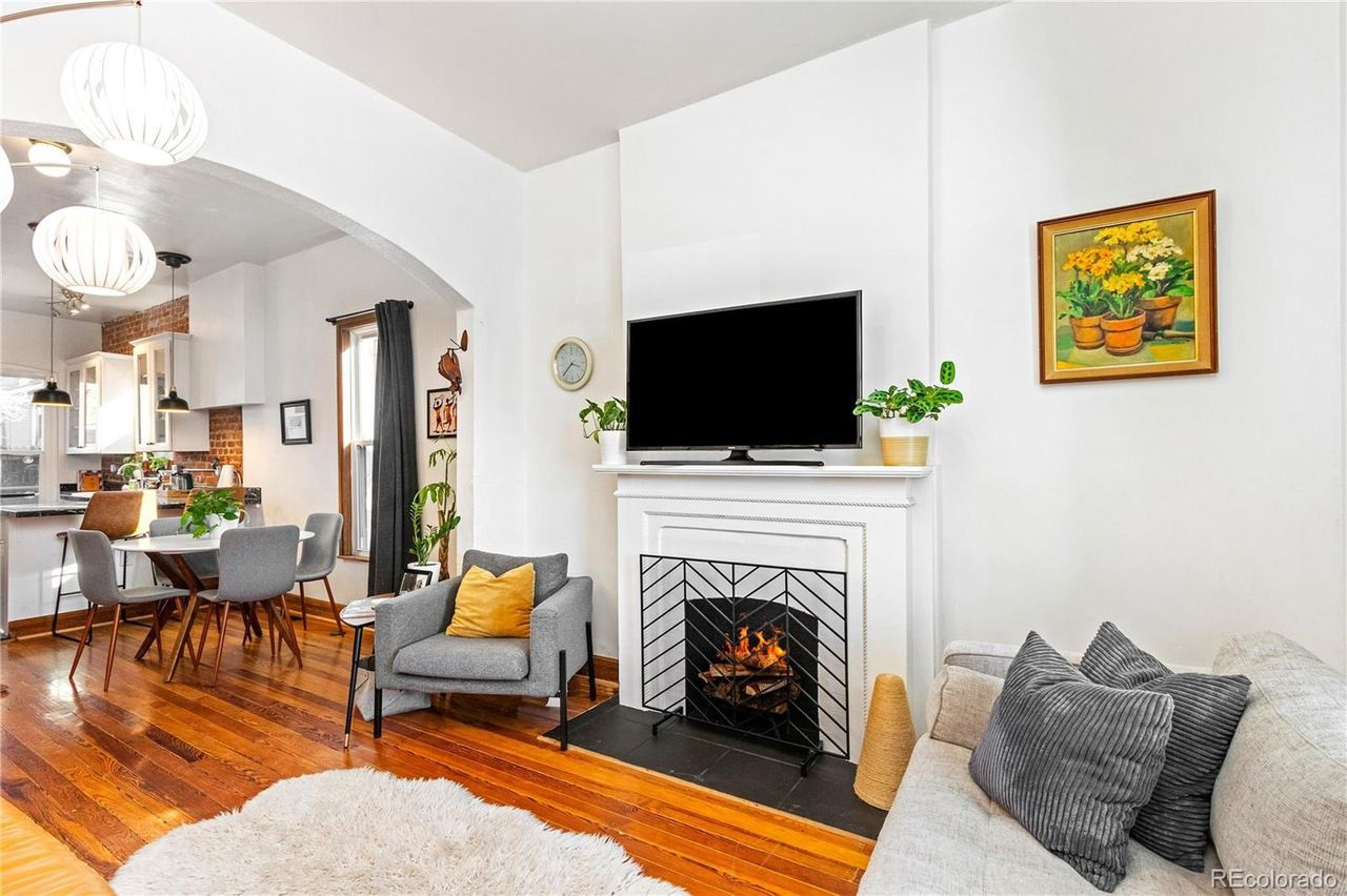 548 Delaware St fireplace
