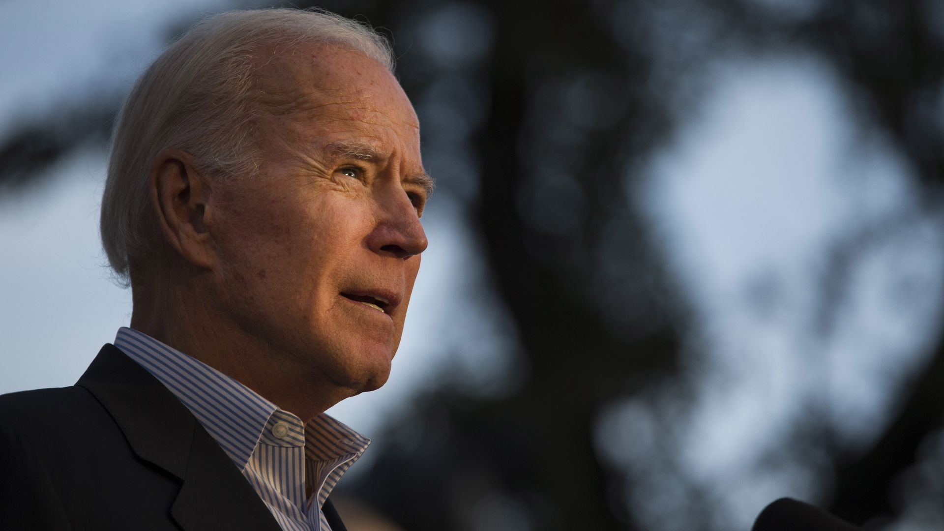 Democratic presidential candidate and former U.S. Vice President Joe Biden speaks at a community event while campaigning on December 13, 2019 in San Antonio, Texas