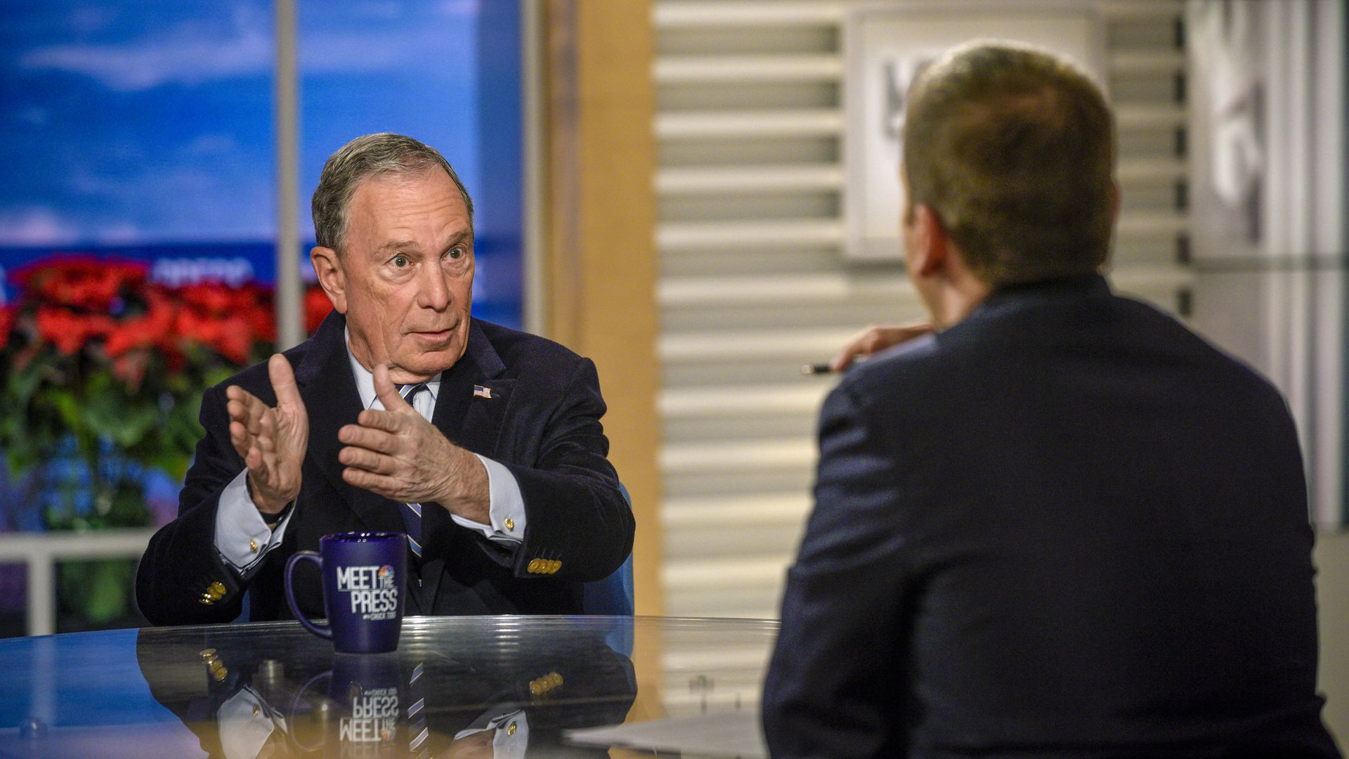 "Mike Bloomberg talks with Chuck Todd on NBC's ""Meet the Press"""