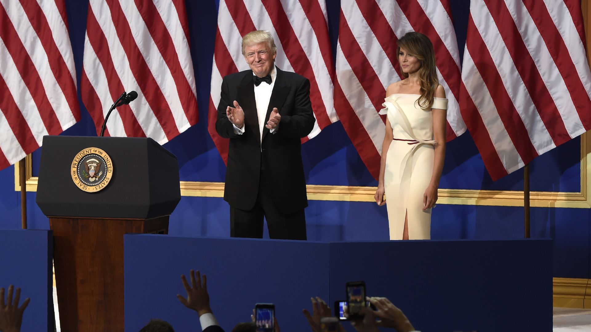 President Trump and Melania Trump at the inauguration