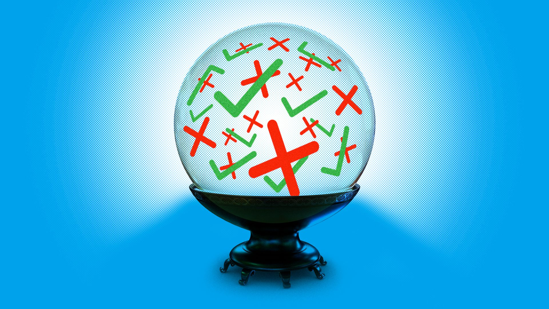 Crystal ball illustration for column on energy predictions
