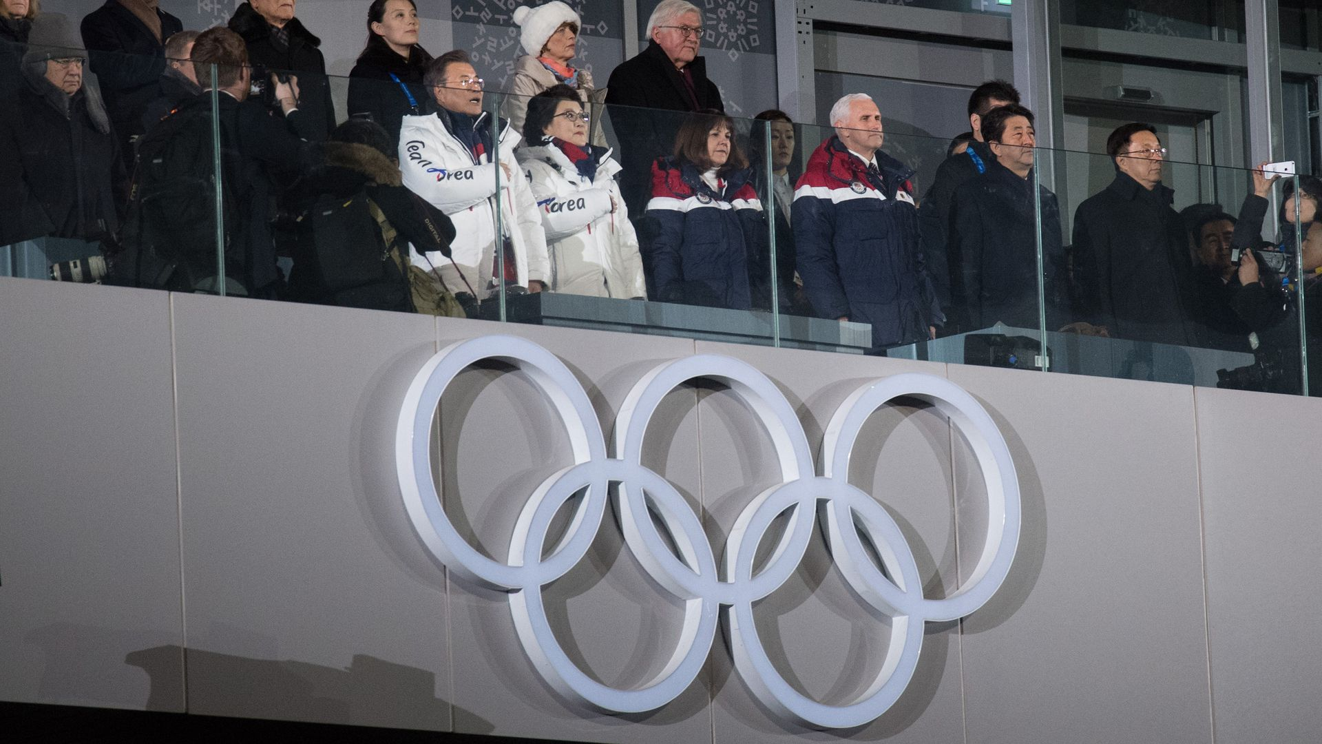 Day two of the Winter Olympics in Korea, here is a photo of VP Mike Pence sitting in box with other officials