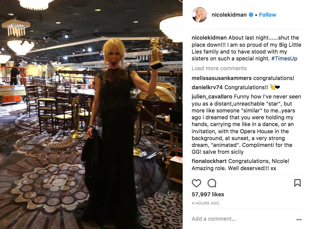 Nicole Kidman on Instagram