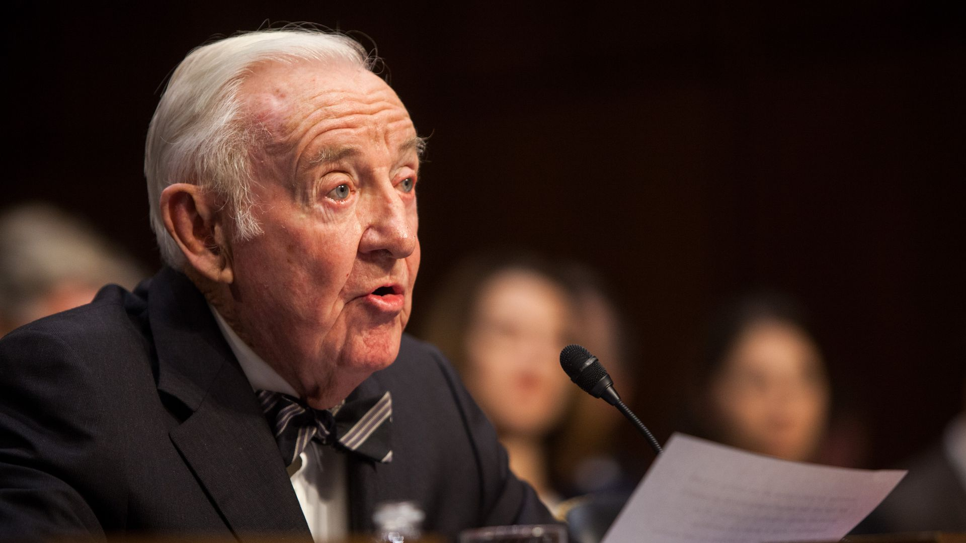 Former Supreme Court Justice John Paul Stevens. Photo: Allison Shelley/Getty Images