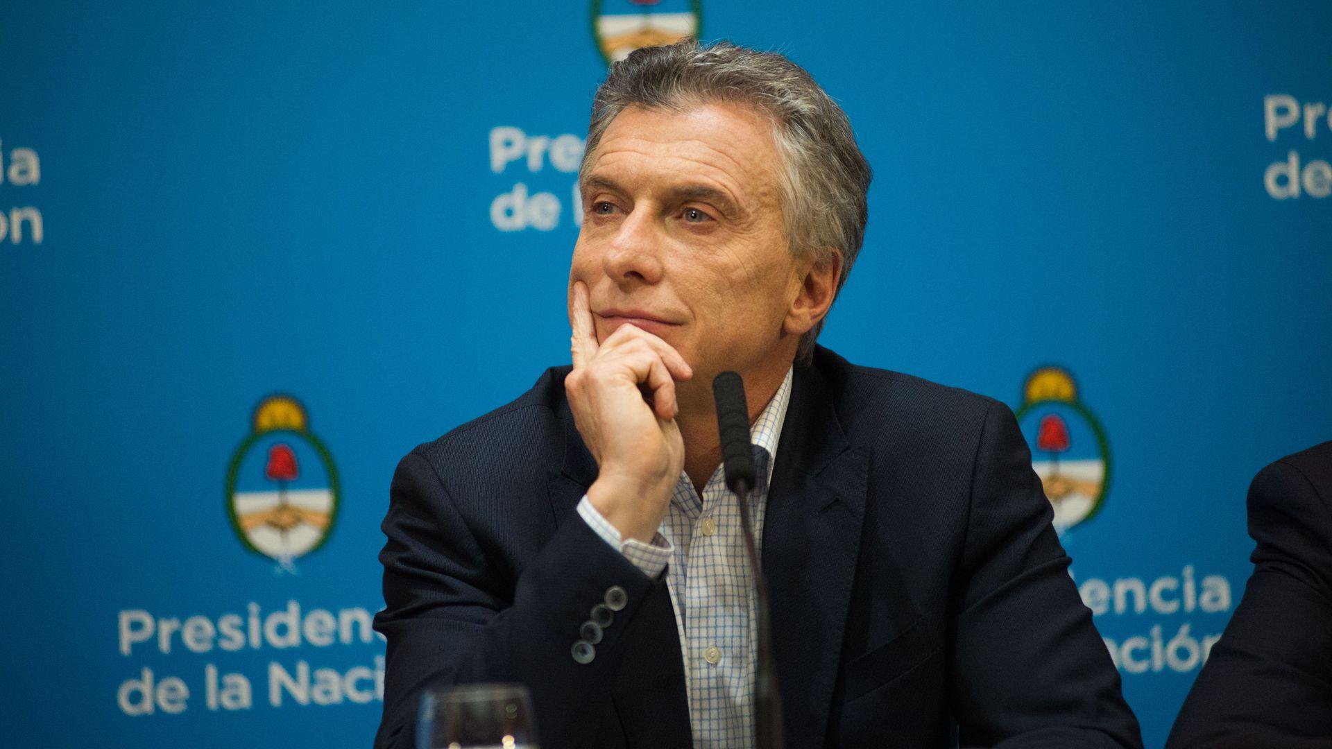 Argentine President Mauricio Macri,