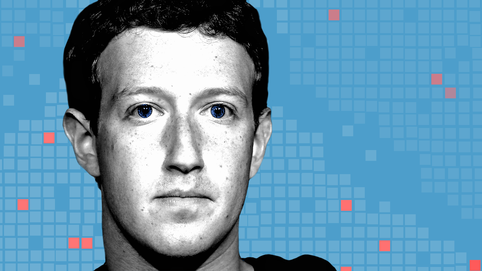 An illustration of Facebook CEO Mark Zuckerberg