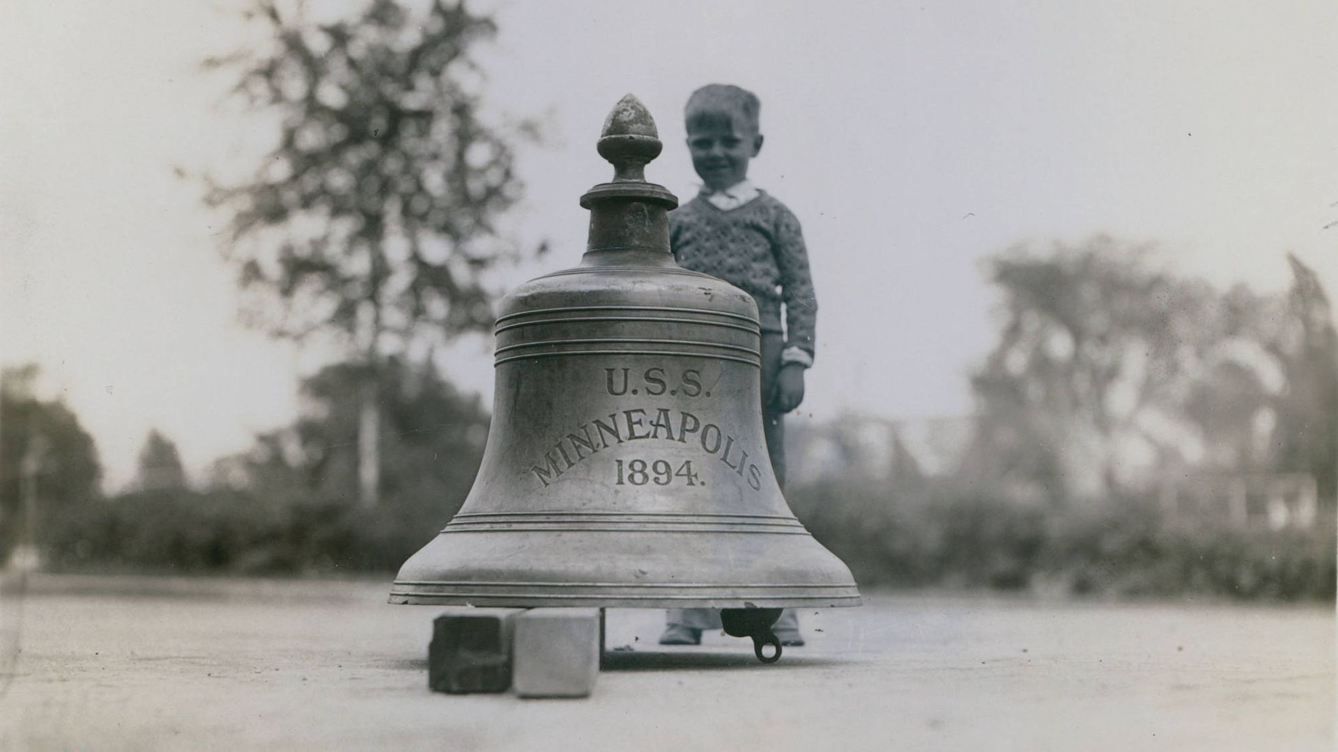 A historic bell from the U.S. Navy