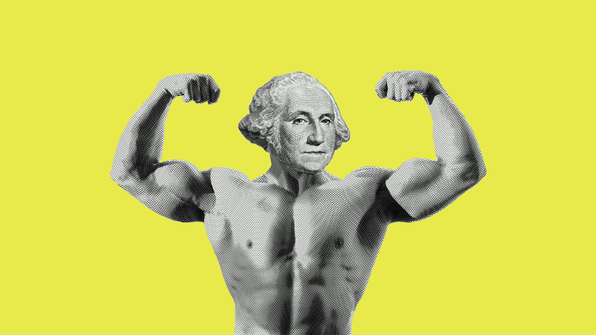 A flexing George Washington