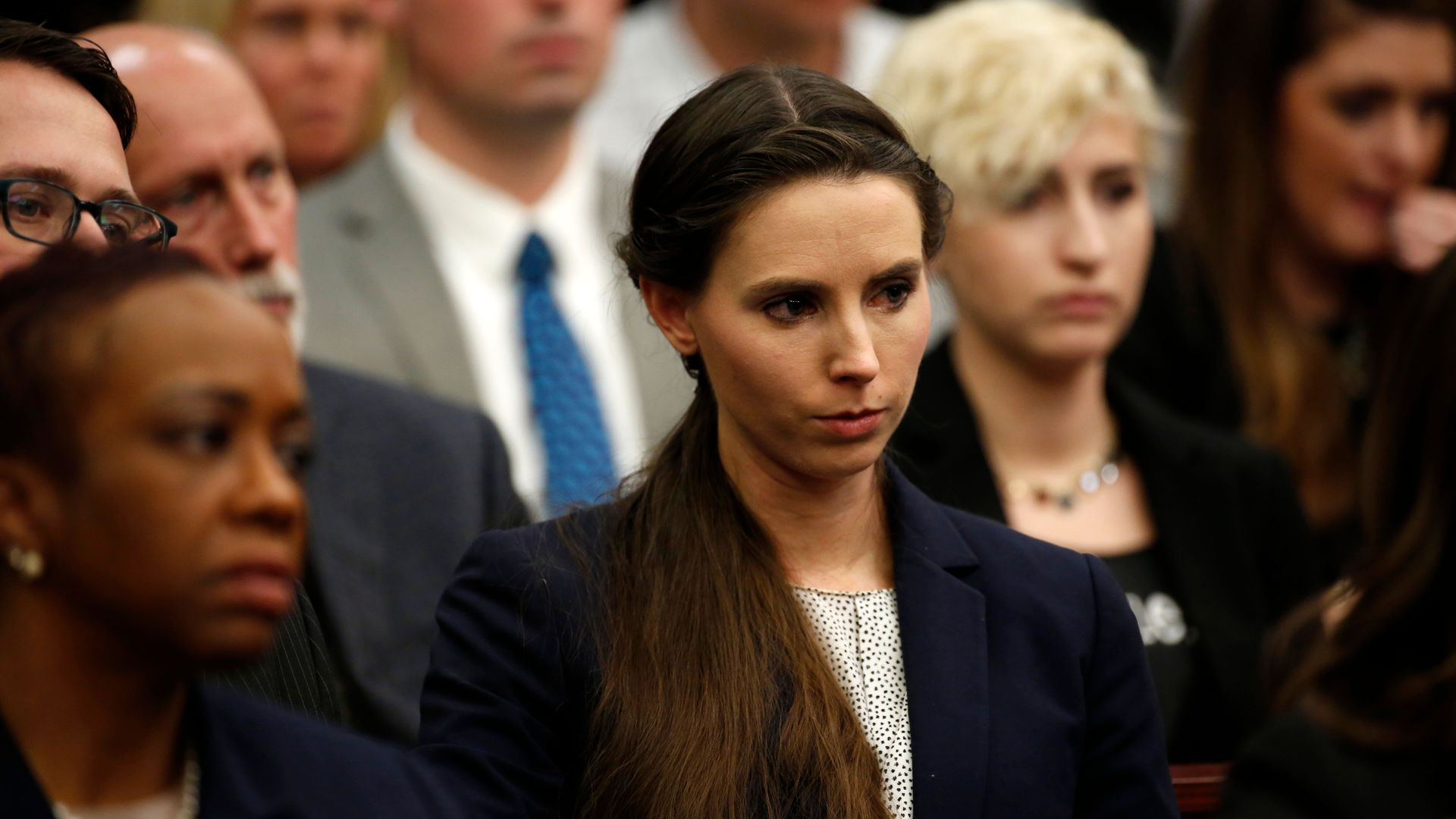 Rachael Denhollander who was victimized by former Michigan State University and USA Gymnastics doctor Larry Nassar.