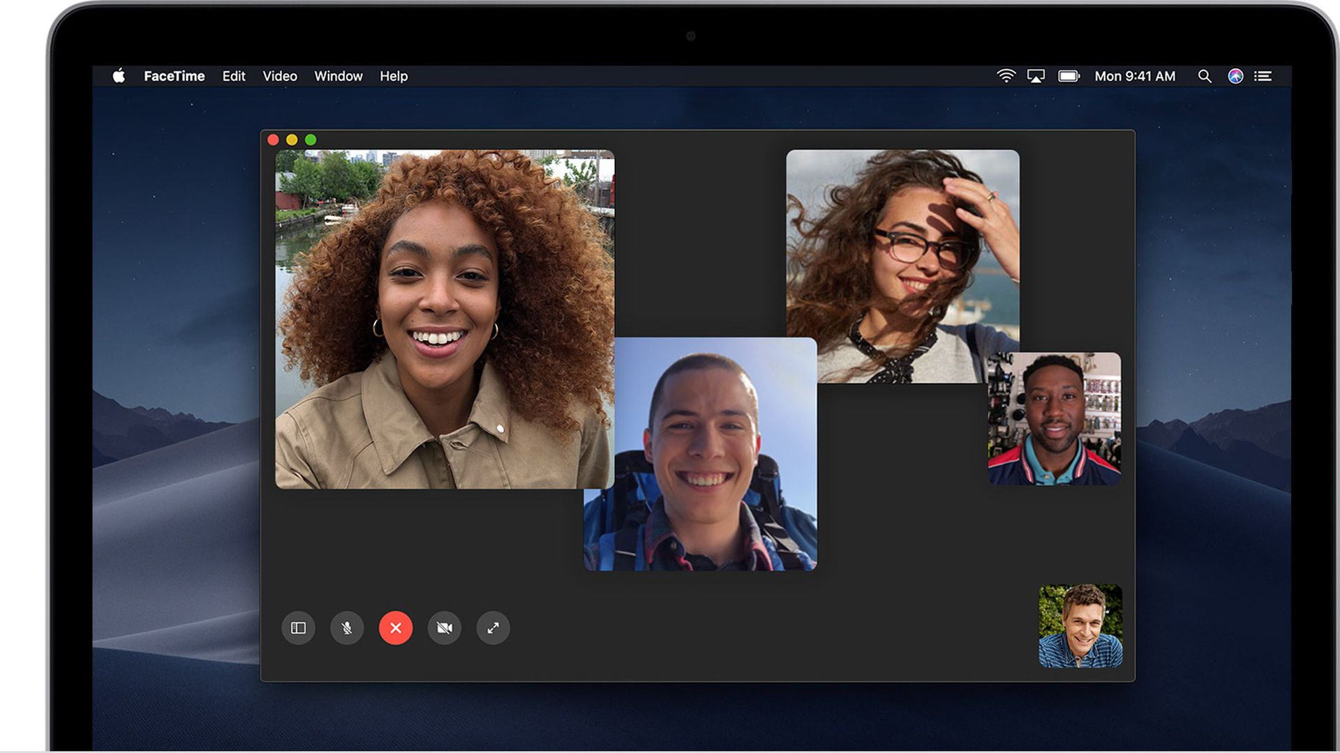 Apple's FaceTime chat app, as seen on a Mac