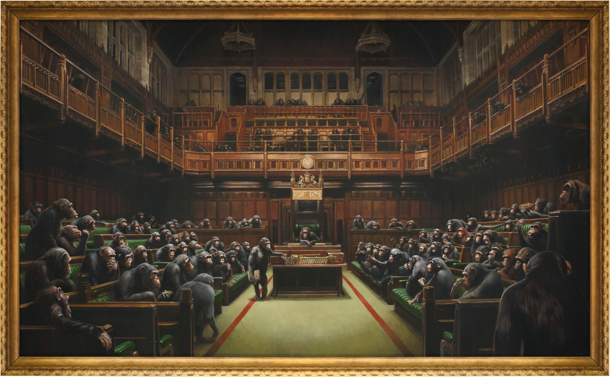 Devolved Parliament, by Banksy
