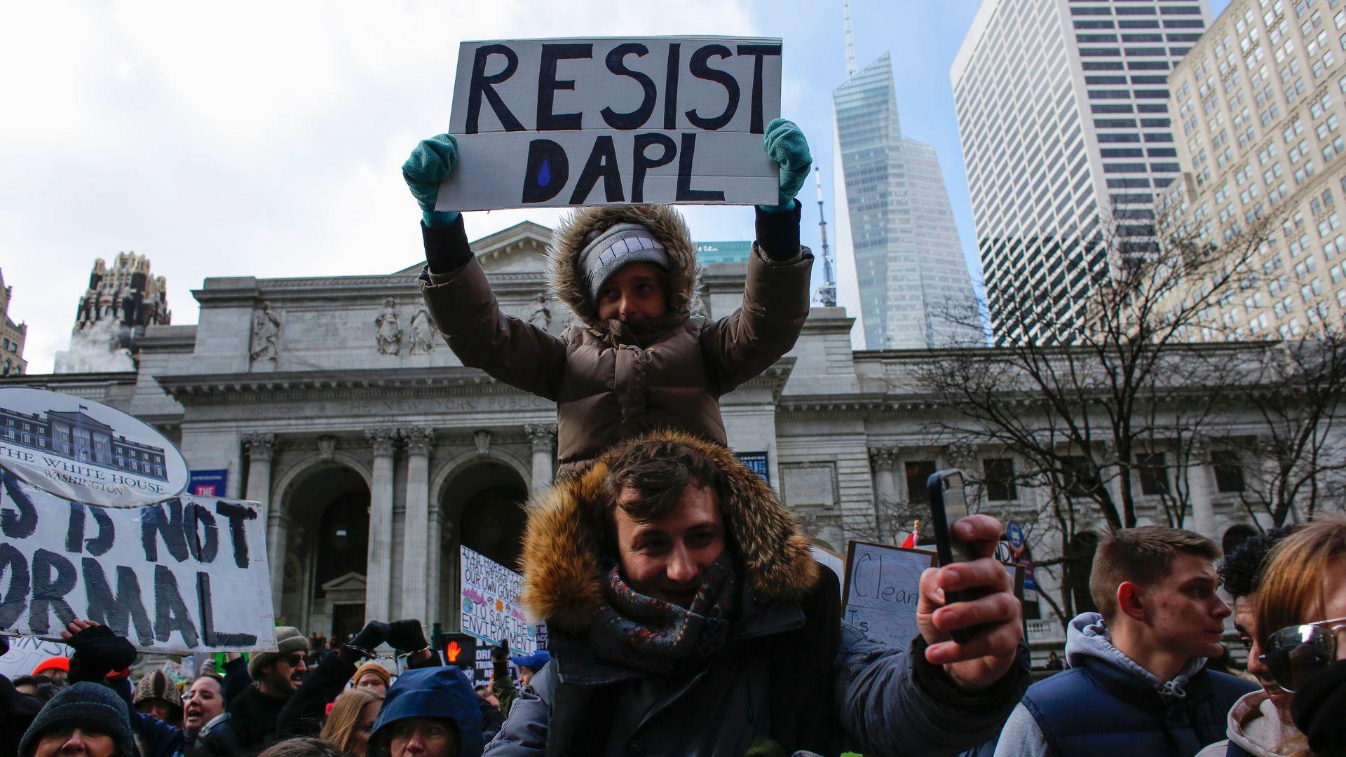 DAPL protesters.