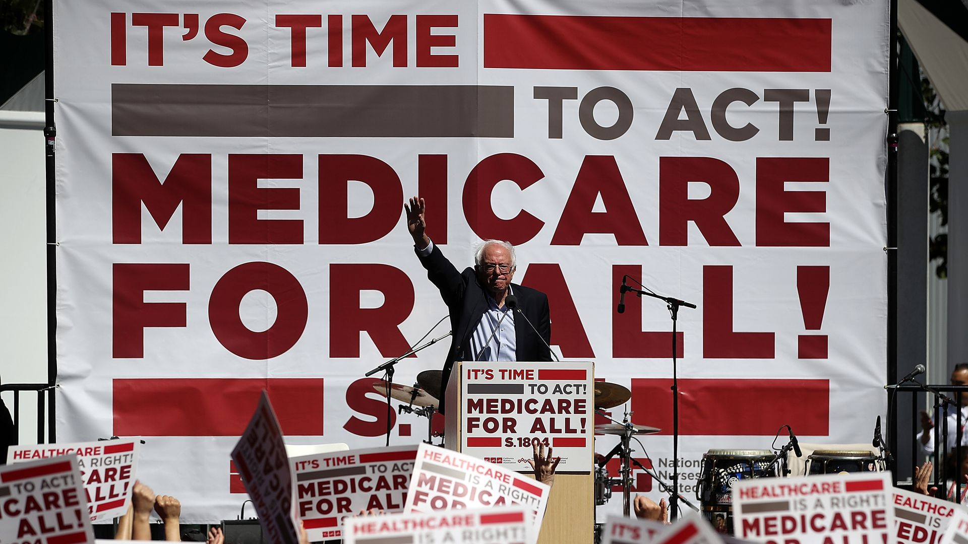Bernie Sanders at Medicare for All rally